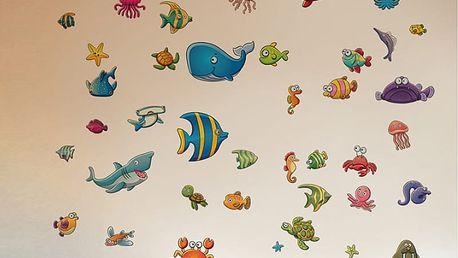 Nalepte.cz Ryby z moře 50 x 70 cm