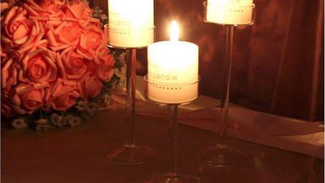 Elegantní skleněný svícen Crystal 11 cm