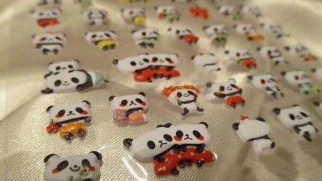 3D mini pandy 9,5 x 17,5 cm