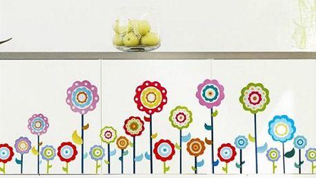 Nalepte.cz Barevné květiny 60 x 32 cm