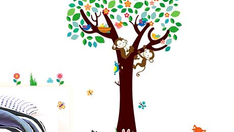 Strom s opičkami 135 x 124 cm