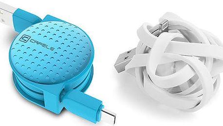 Navíjecí USB kabel Typ-C v různých barvách - 1 m