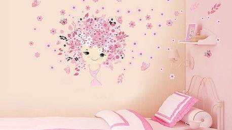 Růžová víla 115 x 55 cm