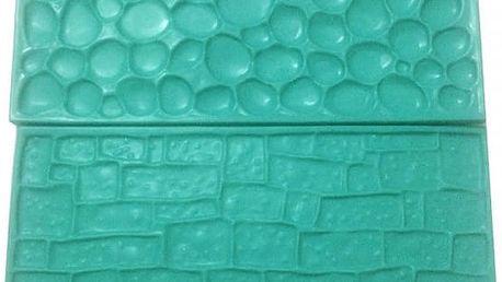 2 kusy formiček k tvarování fondánu - Cihlová a kamenná zeď