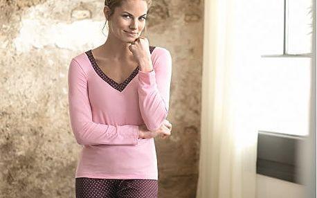 SELMARK Dámské vínové pyžamo P02730-P14 S