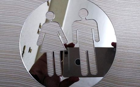 Zrcadlové WC postavičky 10 x 10 cm