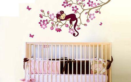 Opička na větvi 120 x 85 cm