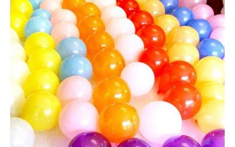 Sada 10 ks lesklých dekorativních nafukovacích balónků