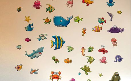 Ryby z moře 50 x 70 cm