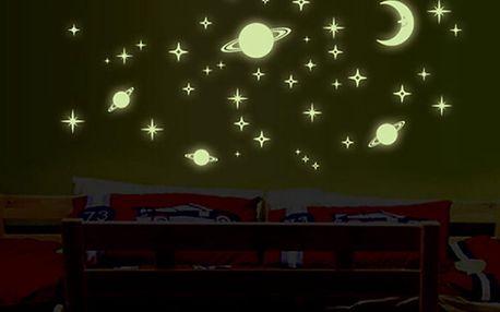 Svítící planety a hvězdy 21 x 25 cm