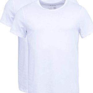 Sada dvou bílých slim fit trik pod košili s kulatým výstřihem Blend