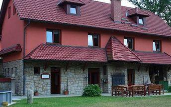 Pobyt v penzionu Dočkalův Mlýn pro dva s polopenzí včetně speciality penzionu vepřového kolena.