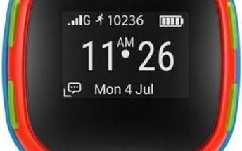 Chytré hodinky ALCATEL MOVETIME Track&Talk Watch (SW10-2GALCZ1) červené/modré