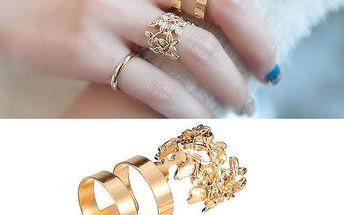 3 kusy prstýnků různých tvarů - dodání do 2 dnů