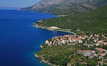 Letní Chorvatsko - Makarská Riviéra/Podaca, 8 dní u moře pro 1 osobu + lze dokoupit bus