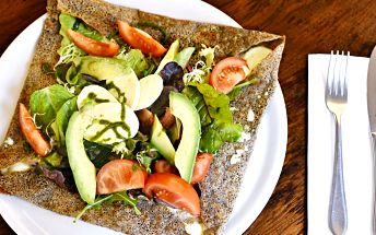 Bretaňská galette bez lepku i pro vegetariány