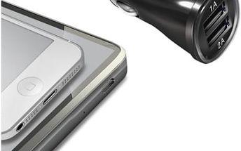 Adaptér do auta Celly 2x USB, 2,1A (CCUSB22) černý