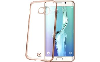 CELLY pouzdro Laser, lemování s kovovým efektem pro Samsung Galaxy S6 Edge Plus, TPU - zlatá - BCLS6EPGD
