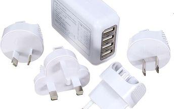 Cestovní nabíječka do zásuvky - 4 USB sloty