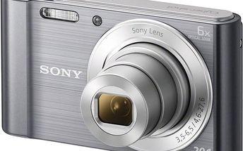 Sony Cybershot DSC-W810, stříbrná - DSCW810S.CE3