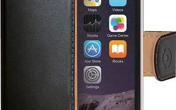 CELLY Wally pouzdro pro Apple iPhone 6/6S, PU kůže, černá - WALLY700