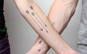 Dočasná voděodolná tetovačka - šipky