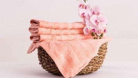 XPOSE ® Bambusový ručník SÁRA - lososová 30x50cm 6ks