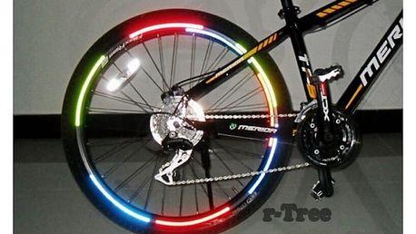 Reflexní samolepky na ráfek kola - více barev