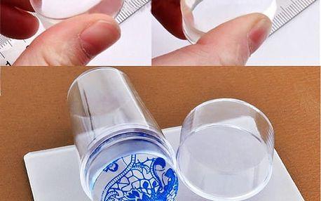 Nail art silikonové razítko se škrabkou