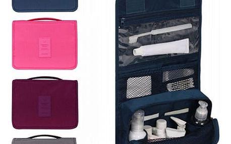 Závěsný cestovní organizér na kosmetiku a potřeby osobní hygieny - různé barvy