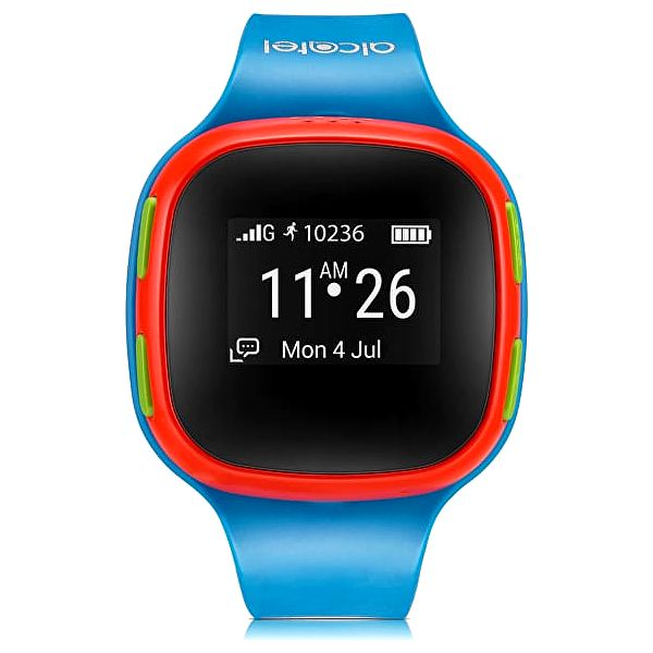 Alcatel MOVE TIME Track&Talk Watch, Blue/Red