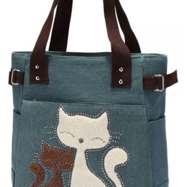 Módní kabelka s kočičkami - 3 barvy