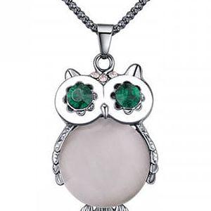 Elegantní náhrdelník na krk s přívěskem v podobě sovy