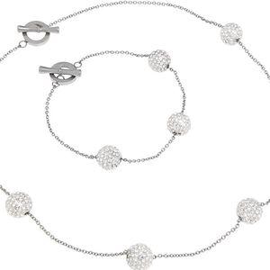 Tribal Sada náhrdelníku a náramku s krystaly SET060