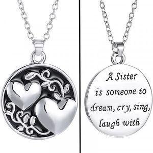 Srdečný sesterský přívěšek na krk
