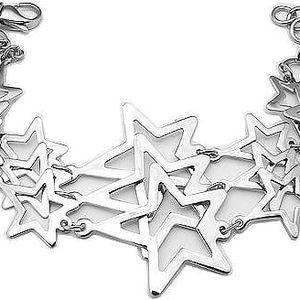 Tribal Ocelový náramek Hvězdy BRM81