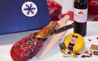 Gurmánská sada: minikýta, čedar i víno Bordeaux