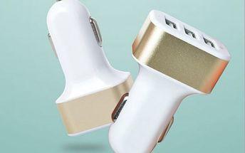 Autonabíječka se třemi USB výstupy