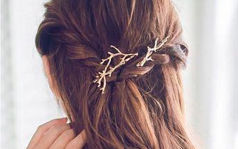 Pírko do vlasů ve tvaru větvičky