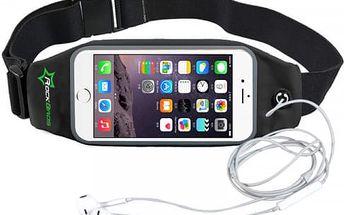 Vodovzdorná ledvinka na sport s transparentní kapsou na telefon