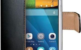 CELLY Wally pouzdro typu kniha Huawei Ascend G7 PU kůže černé