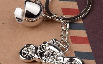 Stylová klíčenka ve tvaru motocyklu
