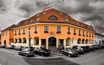Hotel N *** ve Znojmě s polopenzí, děti zdarma