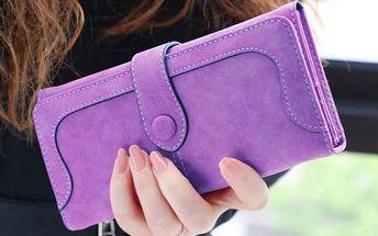 Dámská peněženka v pastelových barvách - umělá kůže