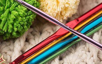 Bohatá vícebarevná sada jehlic na pletení - 22 ks