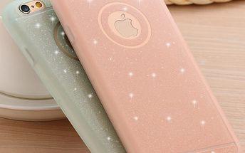 Pouzdro pro iPhone 5 5s SE/6 6S/6 6s Plus - silikonové se třpytky