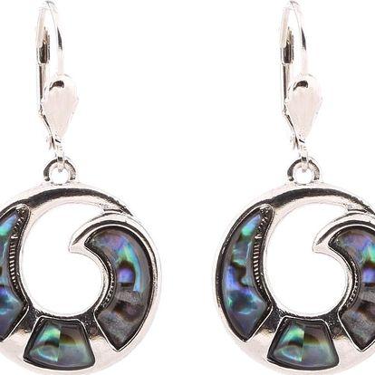 Fashion Icon Náušnice kroužky s duhovou Paua perletí
