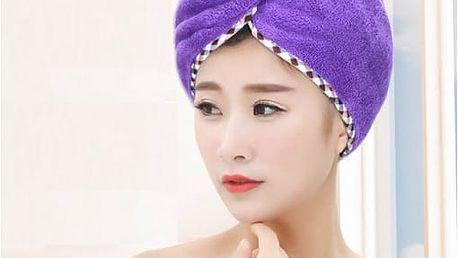 Ručník na vlasy z mikrovlákna pro rychlé sušení