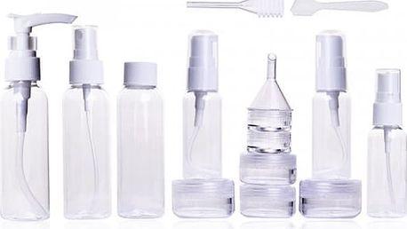 Sada plastových lahviček, nádobek a pomůcek - 16 kusů