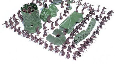 Sada 100 ks vojáčků s vybavením